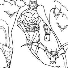 Coloriage : Batman et sa super armure