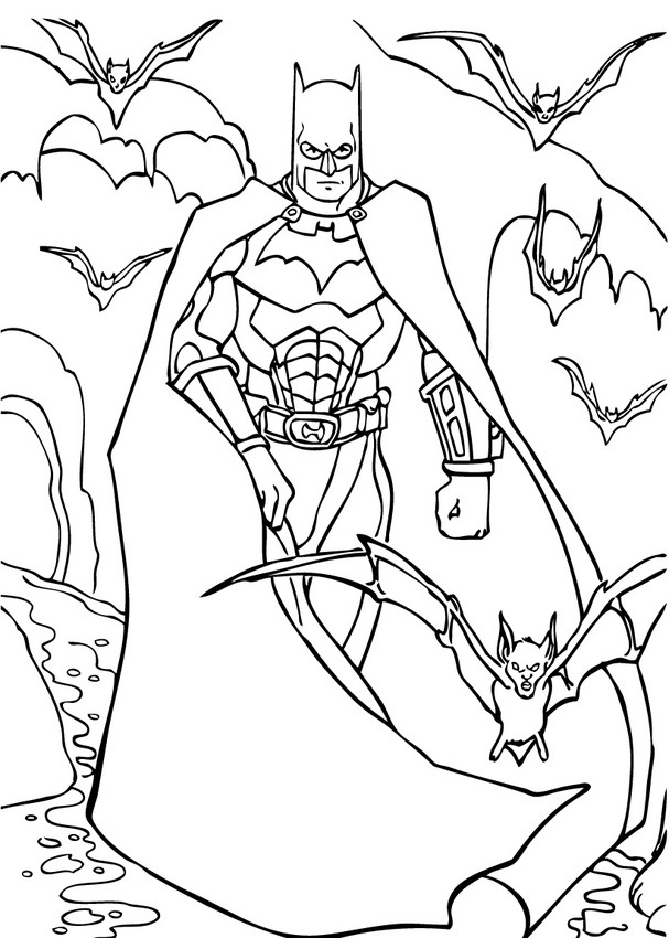 Coloriages batman et sa super armure - Coloriage a imprimer batman ...