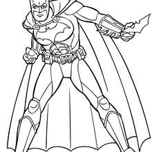 Coloriage : Batman et ses gadgets