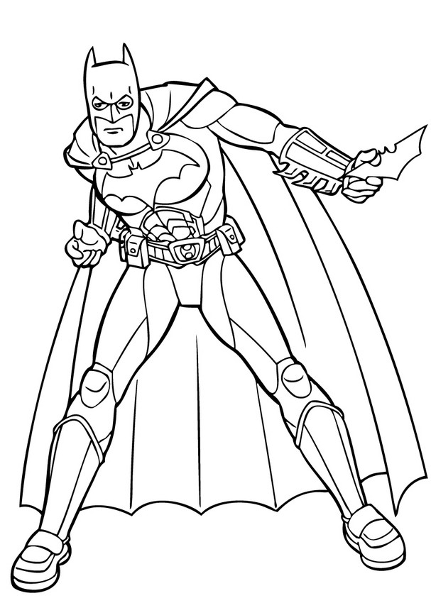 Coloriages batman et ses gadgets - Coloriage batman ...
