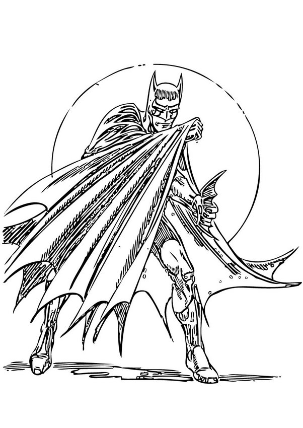 Coloriages batman mefiant - Coloriage batman ...