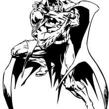 Coloriage : Batman sur la défensive