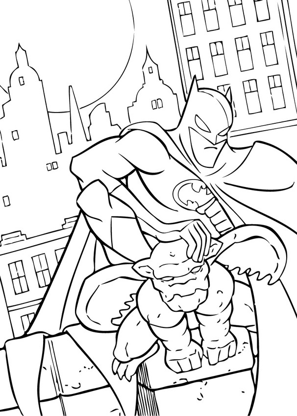 Coloriages batman sur la gargouille - Coloriage batman ...