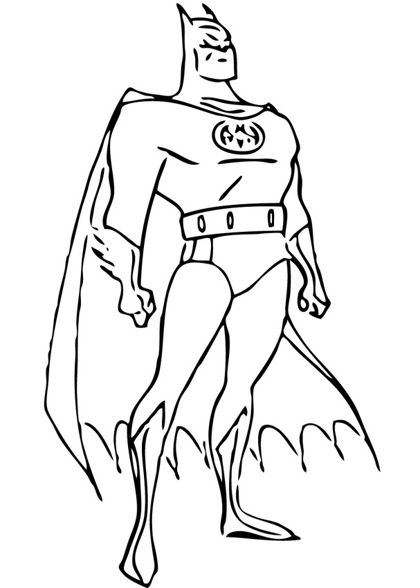 Coloriages batman veillant sur gotham city - Coloriage batman ...