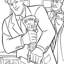 Coloriage : Bruce Wayne et Alfred