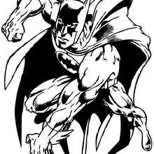 Coloriage : Coloriage de batman pret à l'attaque
