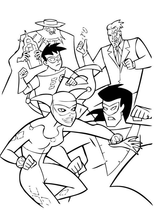Coloriages combat contre les criminels - Batman a colorier ...