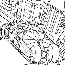 Coloriage : La batmobile