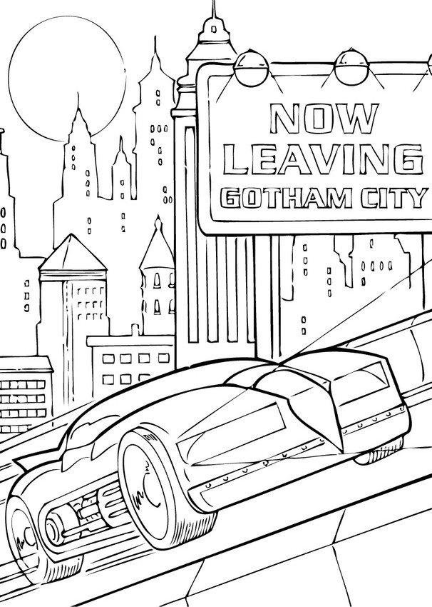 Coloriages la voiture dans la ville - Coloriage ville ...