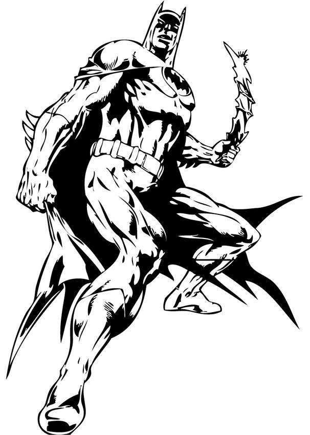 Coloriages lanc du batarang for Batman coloring pages pdf