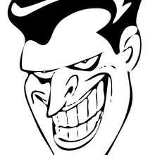 Coloriage : Le sourire du Joker