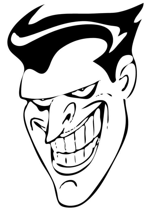 Coloriages le sourire du joker - Le joker dessin ...