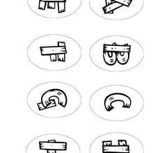 Lettres A à H - Coloriage - Coloriage LETTRES ALPHABET - Coloriage lettres alphabet WESTERN