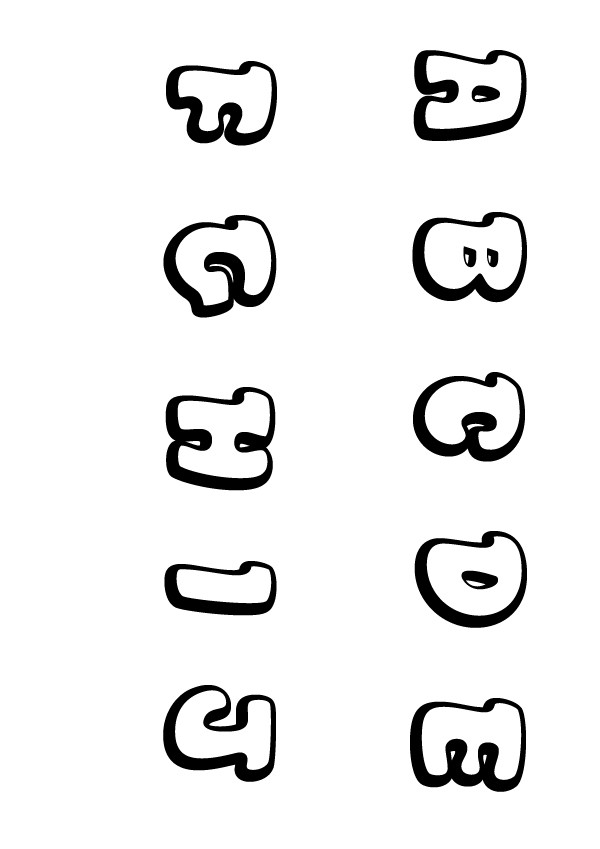 Coloriage : Lettres A à J