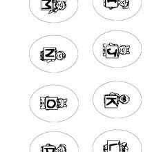 Lettres de I à P - Coloriage - Coloriage LETTRES ALPHABET - Coloriage lettres alphabet ENFANT