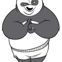 Coloriage Kung Fu Panda : Po prêt à en découdre