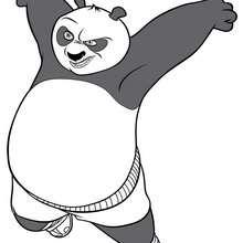 Coloriage Kung Fu Panda : Po mécontent