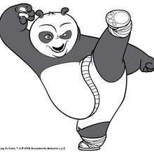 Coloriage Kung Fu Panda : Po le panda