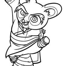 Coloriage Kung Fu Panda : Maître Shifu