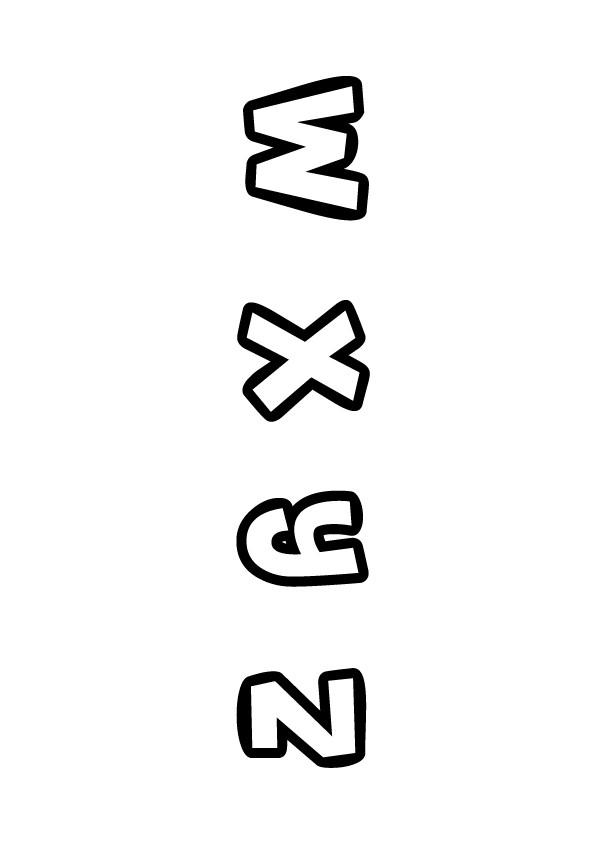 Coloriage : Lettres de W à Z