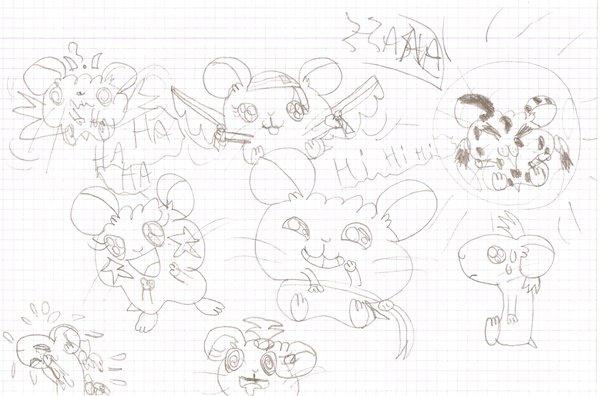 mes dessin de ham-ham (hamtaro)
