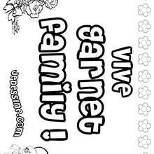 Garnet family - Coloriage - Coloriage PRENOMS - Coloriage PRENOMS LETTRE G