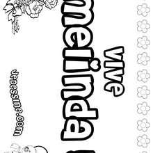 Melinda - Coloriage - Coloriage PRENOMS - Coloriage PRENOMS LETTRE M