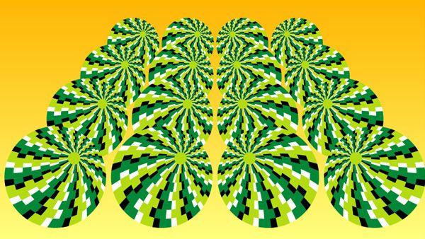 photo cercle bouge melon image illusion optique humour insolite