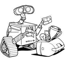 Coloriage : Wall-E le robot