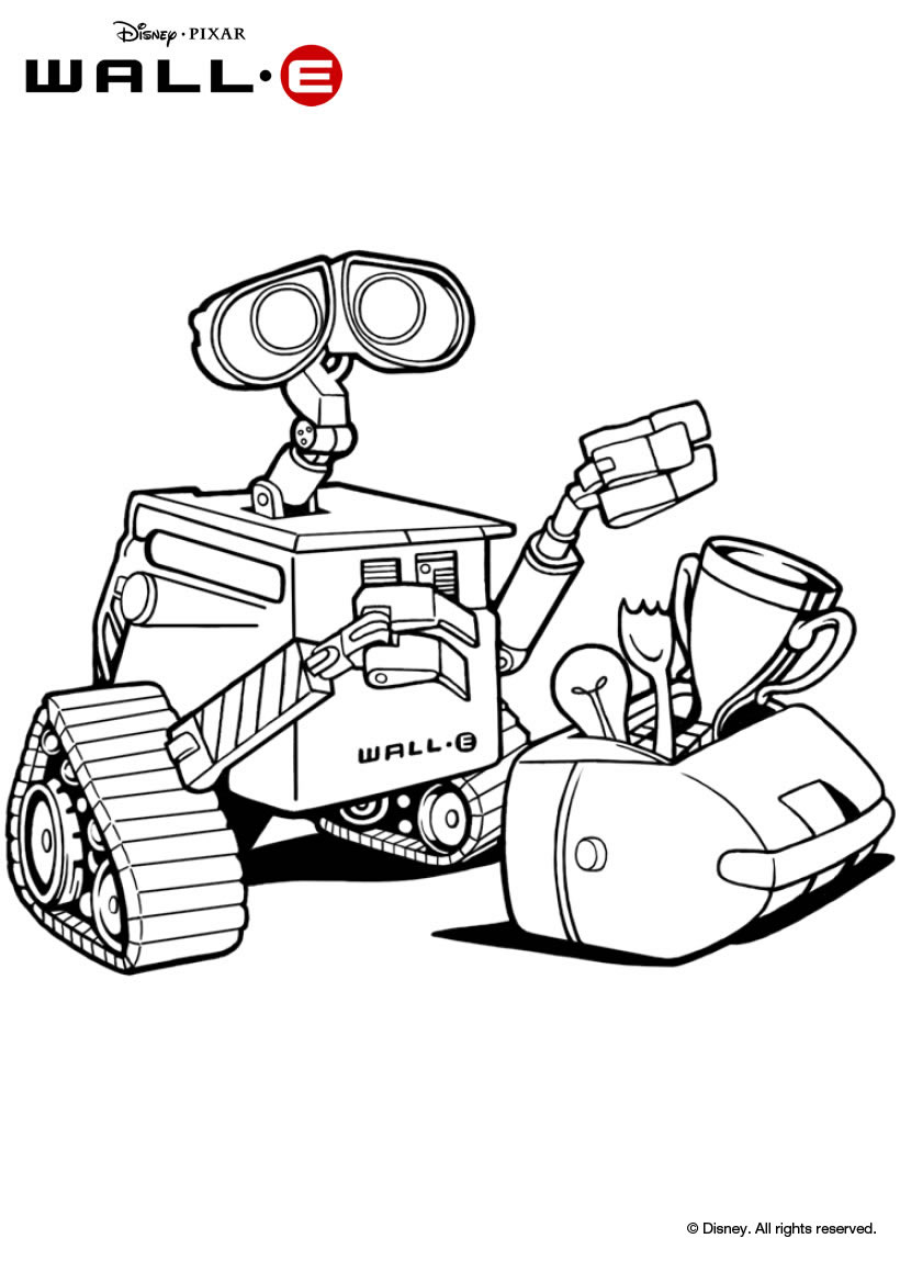 walle coloring pages - coloriages wall e le robot