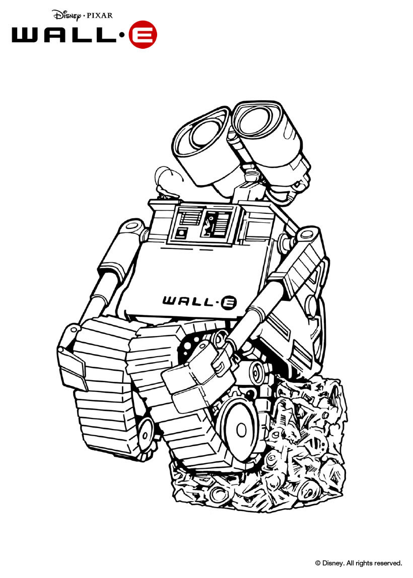 disney wall e coloring pages - photo#35