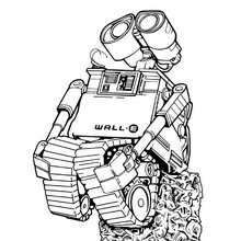 Coloriage à imprimer WALL-E - Coloriage - Coloriage DISNEY - Coloriage WALL E