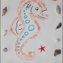 Le tableau de la mer - Activités - BRICOLAGE ENFANT - Bricolage de vacances