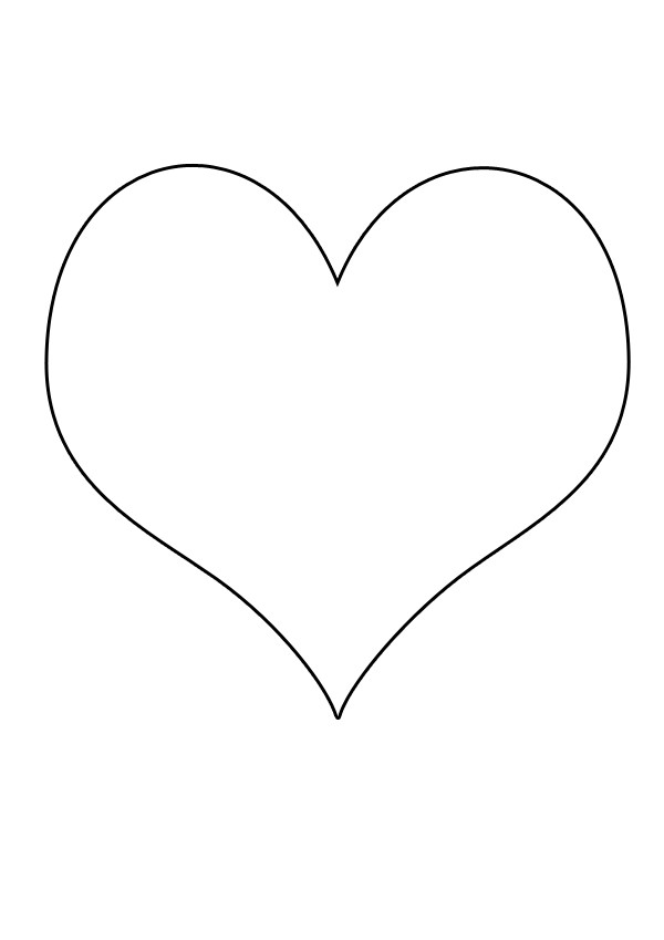 Activit s manuelles gabarit de coeur - Image de coeur a colorier ...