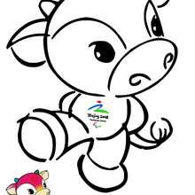 Coloriage de personnage : Fu niu lele - Coloriage - Coloriage SPORT - Coloriages des JEUX OLYMPIQUES A COLORIER - Coloriage JEUX OLYMPIQUES DE BEIJING 2008