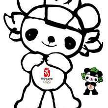 Coloriage de personnage : Jingjing - Coloriage - Coloriage SPORT - Coloriages des JEUX OLYMPIQUES A COLORIER - Coloriage JEUX OLYMPIQUES DE BEIJING 2008