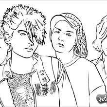 Coloriage des chanteurs de Tokio Hotel