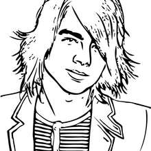 Coloriage des Jonas Brothers Joe