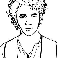 Coloriage des Jonas Brothers Kevin