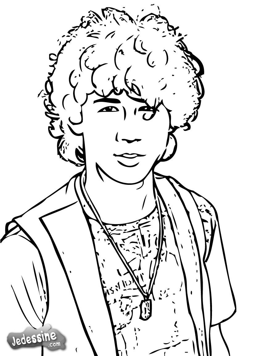 Nik Jonas dans Coloriage star