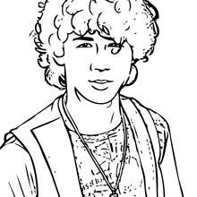 Coloriage des Jonas Brothers Nick