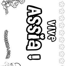 Assia - Coloriage - Coloriage PRENOMS - Coloriage PRENOMS LETTRE A