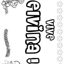 Elvina - Coloriage - Coloriage PRENOMS - Coloriage PRENOMS LETTRE E
