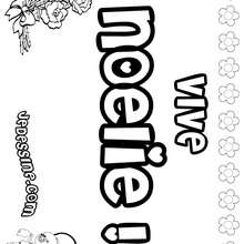 Noélie - Coloriage - Coloriage PRENOMS - Coloriage PRENOMS LETTRE N