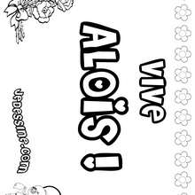 Aloïs - Coloriage - Coloriage PRENOMS - Coloriage PRENOMS LETTRE A
