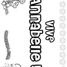 Annabelle - Coloriage - Coloriage PRENOMS - Coloriage PRENOMS LETTRE A