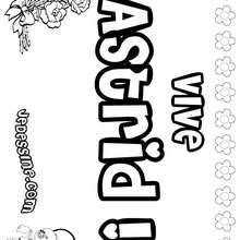 Astrid - Coloriage - Coloriage PRENOMS - Coloriage PRENOMS LETTRE A