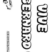 Bernard - Coloriage - Coloriage PRENOMS - Coloriage PRENOMS LETTRE B