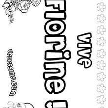 Florine - Coloriage - Coloriage PRENOMS - Coloriage PRENOMS LETTRE F