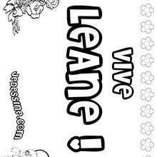 Leane - Coloriage - Coloriage PRENOMS - Coloriage PRENOMS LETTRE L